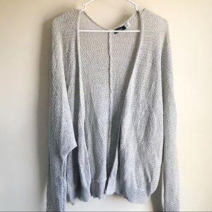 BDG Urban Outfitter Lightweight Gray Knit Cardigan
